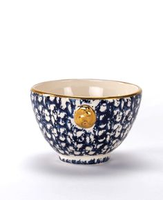 Breakfast Bowl Henriette - En Soie. If I owned this I'd have to eat gold-leaf Cheerios every morning. ...I could live with that.