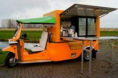 Mobile vendor tuk-tuk cart in the Netherlands