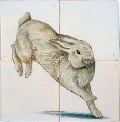 Tegeltableau konijn