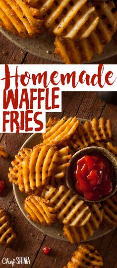 There's tons of unique fries recipes out there, but I guarantee you've never tried something like our crispy homemade Waffle Fries recipe.
