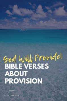 God will provide! Even when you cannot see God at work in your life, He is there! His ways and timing are not our own. God will supply your needs. Here are some Bible Verses about Provision for you. Encouraging Bible Verses, Scripture Verses, Biblical Stewardship, Bible Study Plans, Christian Life, Christian Living, Jesus Quotes, Bible Quotes, God Will Provide