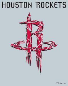 Houston Rockets logo | Diseño | Pinterest | Rockets logo ...