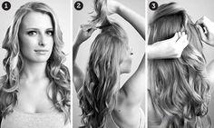 penteado lindo e simples.