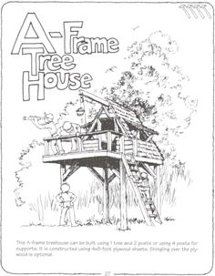 A-frame treehouse