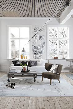 Love the wood ceiling and floors and look at the writing on the wall.