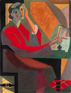Hommage à Georges de la Tour, Andre Lhote. French Cubist Painter, Sculptor (1885 - 1962)