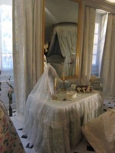 Marie Antoinette's restored bathroom in Versailles Palace