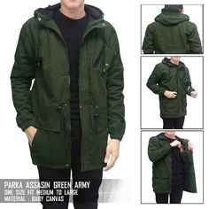 Parka Assassin Green  Bahan canvas tebal  all size L IDR 165 satuan ( belum ongkir )  Contact for order: Line @Dstoregrosir ( Pake @ di depan ) CS1 Pin: 54bc4222 & WA 0878-2225-8573 Cs 3 pin : 5C85AB1F  dan WA 087822985415 #DstoreGrosir #stokterbatas  #grosirbandung #grosirjaket #grosircelana #grosirkaos #jaketmurah #jaketparka #jaketsweater #jaketfleece #jaketparasit #celanamurah #celanajeans #celanajoger #celanacargo #celanachino #celanapanjang #sweateroblong #jaketkeren #pusatgrosir…