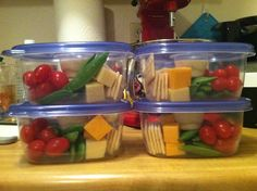Homemade snack pack...I need to do this for work. god knows we have enough kits.