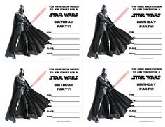 Star Wars Birthday Invitations Printable Free                                                                                                                                                                                 More