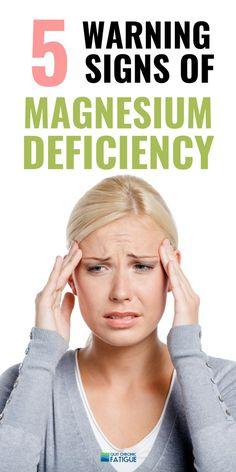 5 Magnesium Deficiency Symptoms Women Should Know (+ How To Fix It ) Adrenal Fatigue Treatment, Adrenal Fatigue Symptoms, Chronic Fatigue, Zinc Benefits Skin, Magnesium Benefits, Magnesium Oil, Magnesium Types, Signs Of Magnesium Deficiency, Magnesium Deficiency Symptoms