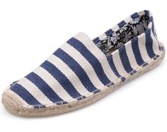 White Navy Toms Mens stripe shoes