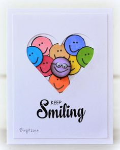 Birgit Edlbom made with the No Picture and Keep Smiling stamp sets Pop Up Cards, Cool Cards, Round Robin, Tarjetas Diy, Get Well Cards, Birthday Cards, Birthday Quotes, Happy Birthday, Watercolor Cards