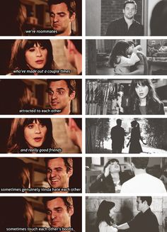 I shipped these two for the longest! Parks N Rec, Parks And Recreation, Movies Showing, Movies And Tv Shows, New Girl Nick And Jess, New Girl Quotes, Tv Quotes, Girls Season, New Girl Season 1