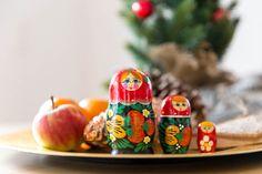 Weihnachten Matruschka Figuren Russland