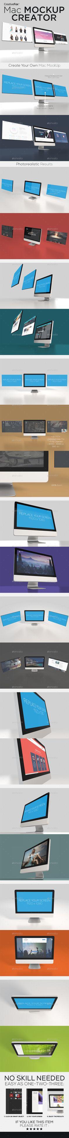 Mac Mockup Creator #design Download: http://graphicriver.net/item/mac-mockup-creator/14506076?ref=ksioks