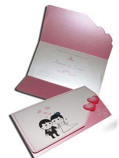 Convite de Casamento Romântico 08