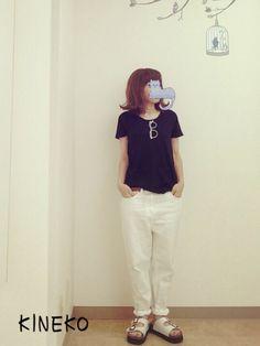 KINEKOさんのTシャツ・カットソー「chocol raffine robe 」を使ったコーディネート