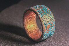 Iron Islands Cuff  bracelet copper and patina copper by JuliaKuro