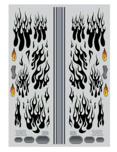 Hotrod Flames RC Car Vinyl Sticker Sheet 7x5inches | Etsy Vinyl Sticker Sheets, Car Decals, Stencil Vinyl, Stencils, Flame Art, Flame Design, Logo Color, Design Show, Airbrush
