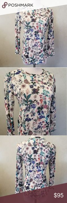NWT Rebecca Taylor floral top Brand new with tags Rebecca Taylor 3/4 sleeve floral tee Rebecca Taylor Tops Tees - Long Sleeve