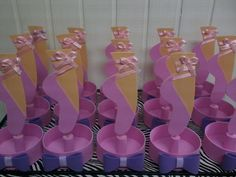 CENTRO DE MESA BAILARINA Ballerina Party Favors, Birthday Celebration, Birthday Parties, Baby Shower, Party Desserts, Dessert Table, Party Themes, Brenda, Ballet