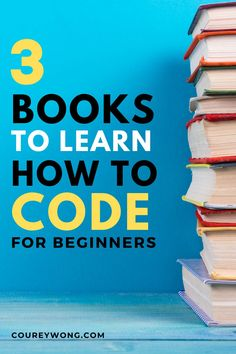 3 Books To Learn How To Code | Are you trying to learn how to code but don't know where to begin? I have been where you are and choosing a coding language can be the hardest thing in web development. I'll show you some of the best coding books for beginners so there's an easier transition into the world of coding. That's why I created this post as a resource for those learning how to code. I try to make coding easy to learn. Get started today. #codingforbeginners #codingbook #learncoding Coding Languages, Programming Languages, Computer Programming, Code Project, Learn Computer Science, Coding For Beginners, Learn To Code, Best Web, Software Development