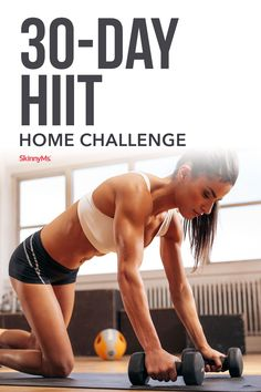 Our 30-Day HIIT Home Challenge gives you the energy, excitement, and results of a gym workout from the comfort of your own home! #workouts #fitness