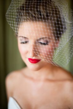 Glam bride with red lips! Recreate with Essential Lipstick in Fearless! http://www.eyeslipsface.com/elf/lips/lip_stick/lipstick