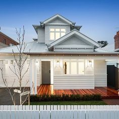 16 McPhail Street, Essendon, Vic View property details and sold price of 16 McPhail Street & other properties in Essendon, Vic Weatherboard Exterior, Exterior Cladding, Dream House Plans, My Dream Home, Victorian Terrace Interior, Tin House, Facade House, House Exteriors, House Facades
