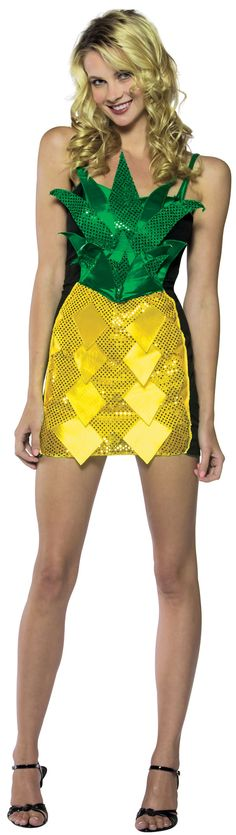 Adult Sexy Pineapple Dress Costume - Sexy Halloween Costumes