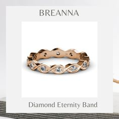 Meet Breanna!✨ Bold moves here only—because nothing beats the shine and glamour of a sparkling diamond eternity band. 💍 💍: Breanna/133757 . . . #yourpersonalejeweler #trijewels_official #jewelryaddict #women #finejewerly #ootd #accessories #bridal #diamond #roundbrilliant #rings #eternityband #jewelry #customjewelry #madeinnyc #westernfashion #couplegoals #weddingring #stackingrings #newyork Eternity Bands, Custom Jewelry, Sparkling Diamond, Wedding Rings, Rose Gold, Gemstones, Bracelets, Beats, Ootd
