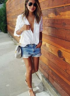 Denim shorts aren't just for the beach anymore! I have seen them styled so perfectly on all of my favorite street style stars. I love the way they are wearing them dressed up with a great …
