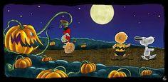The Great Pumpkin / Charlie Brown / Charles Schultz Charlie Brown Halloween, Great Pumpkin Charlie Brown, It's The Great Pumpkin, Charlie Brown And Snoopy, Mickey Halloween Party, Halloween Art, Peanuts Halloween, Halloween Queen, Spooky Halloween Pictures