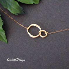 Interlocking Circle Necklace Infinity Necklace by SnobishDesign, $26.00