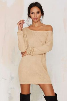 There's nothing we love more than a cozy knit - except for a cozy knit dress. Nasty Gal