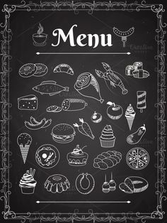 food menu by Microvector on @creativemarket