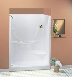 "Maax® 60"" Allegro II 2 Piece Shower (RH Seat, No Roofcap, LH Drain) at Menards"