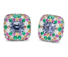 PAUL MORELLI #coloriseverything #colorfulearrings #jewelrylover #bluespinel