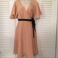 SALE NWT H&M blush pink wrap dress Beautiful, never worn, new with tags wrap dress H&M Dresses
