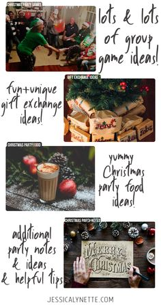 Christmas party ideas - lots of ideas for christmas games for large groups, gift exchange ideas, party food and so much more! Christmas Games To Play, Christmas Gift Exchange Games, Xmas Games, Holiday Party Games, Neighbor Christmas Gifts, Cheap Christmas Gifts, Christmas Party Food, Family Christmas Gifts, Christmas Fun
