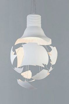 Scheisse is a blend of art and industrial design and an experiment with light and shadow. Paris Design, E Design, Lamp Light, Light Bulb, Design Industrial, Suspension Design, Lamp Bulb, Light And Shadow, Lampshades