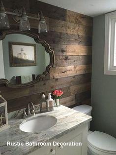 Cottage Bathroom Design Ideas, Rustic Master Bathroom, Bathroom Vanity Decor, Rustic Bathroom Designs, Brown Bathroom, Rustic Bathrooms, Bathroom Ideas, Bathroom Remodeling, Bathroom Organization