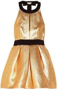 Miu Miu - Crepe-Trimmed Metallic Brocade Dress  2875.00  goldenbirthday   15things  trending 028cbb2ffb5