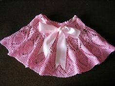 Háčkované sukničky - schémy