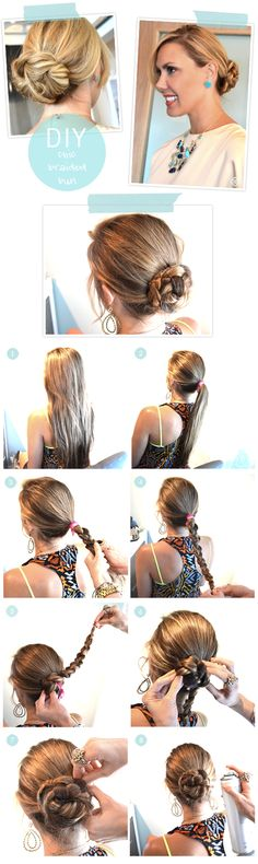 DIY:  Chic Braided Bun #hair #tutorial #KendraScott