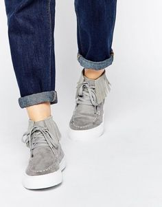 ASOS DOOP DOOP Fringed Sneakers