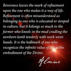 Almine.reverence for life created by the divine
