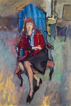 Elena in poltrona by Italo Cremona