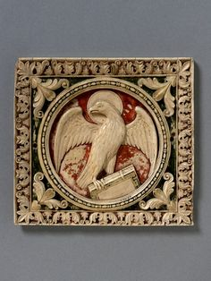 Symbol of St John the Baptist (Panel) | V Search the Collections From Italy,ca 800,ivory with paint.